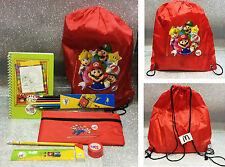 SUPER MARIO SACCO SCUOLA HAPPY MEAL MCDONALD'S SCHOOL BAG MARIO BROS 8 PIECES