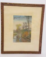 Wallace Nutting Hand Colored Photograph Circa 1920's  Stream in Fall