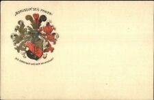 German? Crest Shield Borussia Seis Panier?Vaterland c1910 Postcard