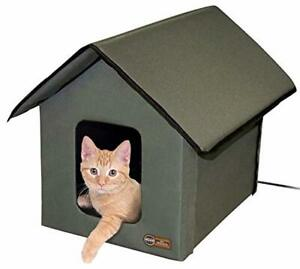 ✅ 20W HEATED Warm Kitten Pet Feral-Cat Shelter House For Outside Outdoor Winte