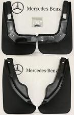 Mercedes-Benz OEM Mud Flaps Splash Guards 2008-2011 C-Class Sedan W204 Set of 4