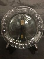 """COCA-COLA Clear Glass 7.35"""" Embossed Collectible Plate COKE Ribbed Awesome!"""
