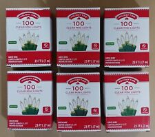 Lot of 6 HOLIDAY TIME 100 Clear Mini Lights Christmas Wedding Indoor/ Outdoor