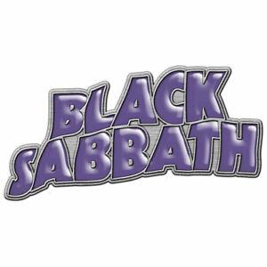 Black Sabbath - Lila Band Logo - Revers / Hut Anstecknadel - Brandneu - Musik