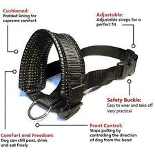 Muzzles Barkless Dog Muzzle, Adjustable Loop With Extra Soft Padding, Nylon L