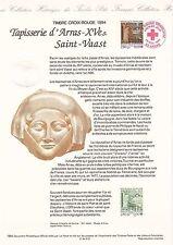 Document Philatélique Timbre 1er Jour : 26/11/ 1994 - Croix-Rouge St Vaast