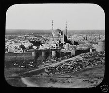 Glass Magic Lantern Slide THE CITADEL CAIRO C1900 EGYPT EGYPTIANS
