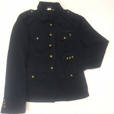 J Crew Womens Navy Button Military Style Jacket Brass Buttons rn77388 Small