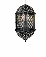 Black Large with Jewels Moroccan Lanterns LML2
