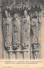 BR73098 details du porche du portail postcard  cathedrale de chartres  france