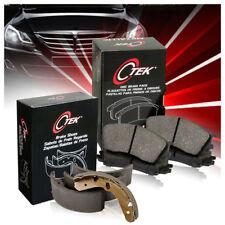 Front + Rear Metallic Brake Pads & Brake shoes 2SET For Mazda MPV 2000 2001