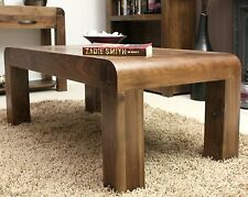 Shiro Walnut Wooden Living Room Furniture Solid Chunky Rustic Coffee Table