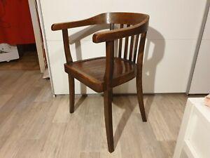 Holzstuhl Gropius Bauhaus Design Armlehnstuhl Vintage Schreibtischstuhl 2