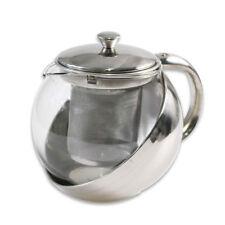Teiera con filtro infusore con coperchio x tisane the 750 ml in vetro da cucina