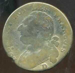 LOUIS XVI  12 deniers  1792 D  ( MDE )  LYON