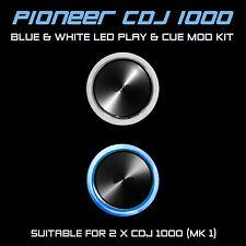 PIONEER CDJ 1000 MK1 BLUE & WHITE PLAY & CUE LED MOD KIT (FOR 2 x CDJS)