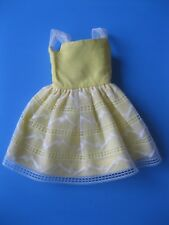 Vintage Barbie Doll Mod Skipper YELLOW DRESS FLOWER GIRL OUTFIT 1904 Clothes
