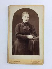 Victorian Carte De Visite CDV: Lady: ME Evans & Co: London
