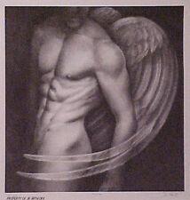 "Jon Reich Art Gallery print of male nude angel s&n edition of 200 ""Angel I"" ."