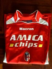 MAGLIA CALCIO MACRON BOLOGNA AMICA CHIPS #10 AWAY FOOTBALL SHIRT 2004 SIZE L