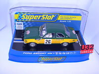 SUPERSLOT H3635 FORD ESCORT MKI #26 MONTE CARLO 1970 J.F.PIOT SCALEXTRIC UK MB