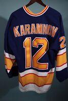 Vintage 90s Maska CCM St. Louis Blues Vitali Karamnov Jersey NHL Hockey