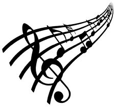 MUSIC NOTES Vinyl Decal Sticker Car Window Wall Bumper Bass Treble Love Symbol