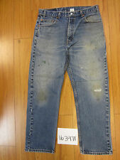 used Levis 505 destroyed feathered grunge USA jean tag 36x30 meas 34x29.5 16397F
