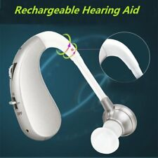 Digital Hearing Aid Rechargeable Voice Amplifier Adjustable Behind Ear Sound