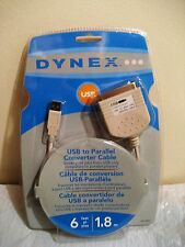 DYNEX USB TO PARALLEL CONVERTER CABLE new