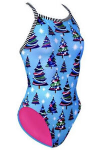 Dolfin Uglies Christmas Tree One Piece Swimsuit Size 36 New Without Tags