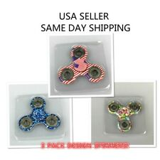 3 x HAND SPINNER TRI FIDGET CERAMIC BALL DESK TOY EDC STOCKING STUFFER