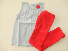 NWT Gymboree STAR SPANGLED SUMMER Size 5T Swiss Dot Corsage Top & Bow Leggings
