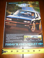 1986 MONTE CARLO SS --AFTER THE RACE--  ORIGINAL AD