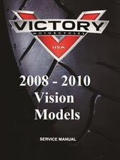victory vision 2008 2009 2010 repair service manual in binder