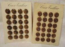"""Boutons anciens en corozo sur carton """"Corozo Tailleur """" Ø : 15 mm lot de 48"""