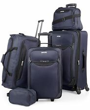 $200 TAG Springfield III Blue 5 Piece Luggage Set Expandable Suitcase Navy Blue