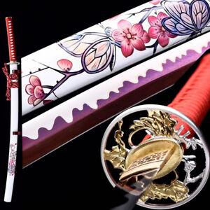 Purple Blade Cherry blossoms Japanese Samurai Sword High Carbon Steel Katana