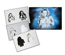 Step by Step Airbrush Stencil AS-089 M ~ Template ~ UMR-Design