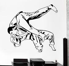 Wall Sticker Sport Judo Jiu-Jitsu Wrestlers Martial Arts Vinyl Decal (z3013)