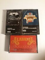 Alabama Cassette Tapes Lot Of 3 - Christmas, Feels So Right, My Homes in Alabama