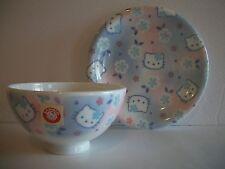 Sanrio Hello Kitty Porcelain Rice Bowl & Dish Set (1976)