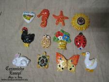 Lotto 12 Magneti ceramica vari soggetti calamite da frigorifero - pottery magnet