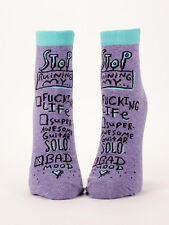 Women's Ankle Socks Bad Mood Blue Q Cotton One Size Funny Novelty Gift