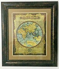 Art Piece Map of the World Typvs Orbis Terrarvm with Framed 29x25