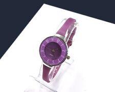 Orologio Polso Donna Analogico Quarzo Moderno Fashion Casual Sottile Viola lac