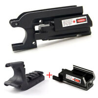 Tactical Under Rail Mount Rail Adapter+Red Dot Laser Sight For 1911 M1911 Pistol