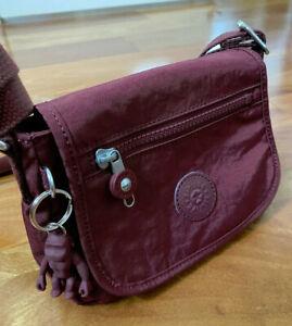 NWOT Kipling Sabian Crossbody Mini Bag Intense Maroon New Without Tag