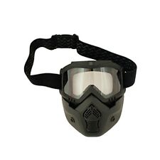 Scorpion Stealth Motorcycle Goggles and Face Mask - Suits Open Face Helmets BLAC