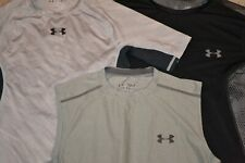Under Armour Men's Compression Shirts (Lot of 3) Size S Black Gray Guc